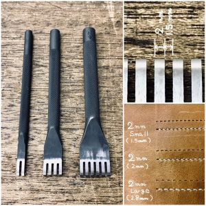 Thonging Chisel (2mm : prong width)  (Small : space between prongs)【Specially made items】