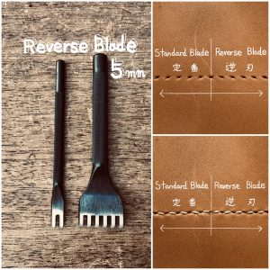 Reverse blade hole punches (5mm:space between prongs) <2types>